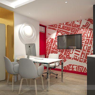 Aménagement agence immobilière Orpy, architecte intérieur La Rochelle
