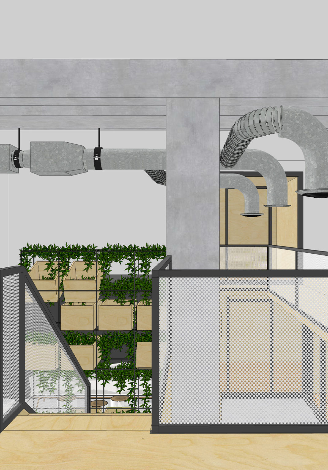 Agencement et rénovation des bureaux commerciaux dans un esprit industriel