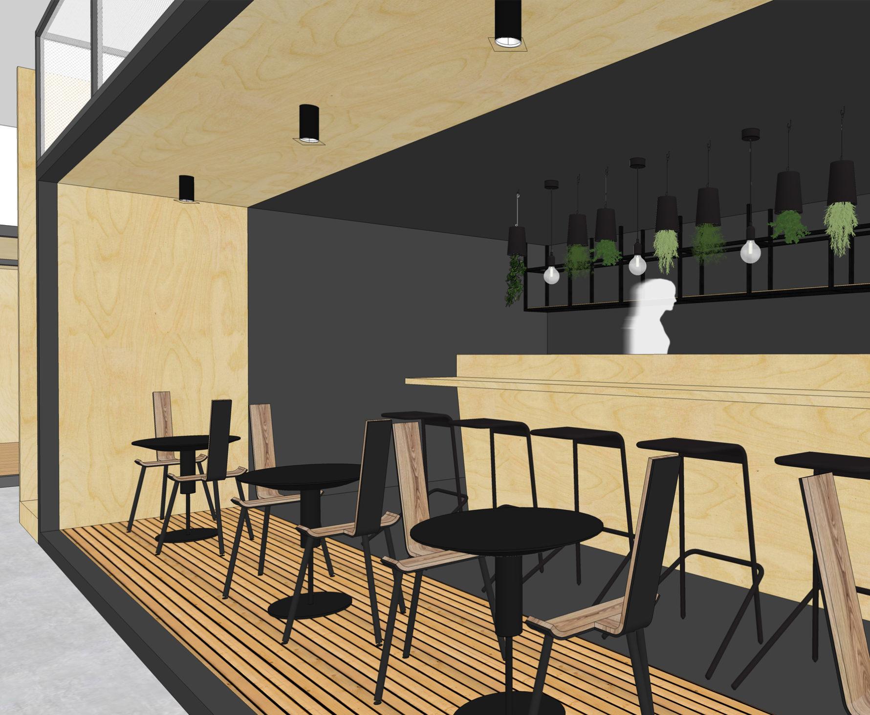Création d'une Little room pour l'espace bar et restaurant de l'entreprise Véalis Immobilier