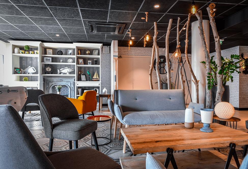 Aménagement intérieur des services généraux de l'hôtel Ibis Styles de Chatelaillon-plage