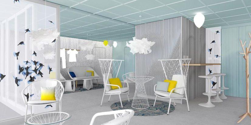 Architecte et décorateur d'intérieur pour l'hôtel Ibis Styles d'Eybens à Grenoble