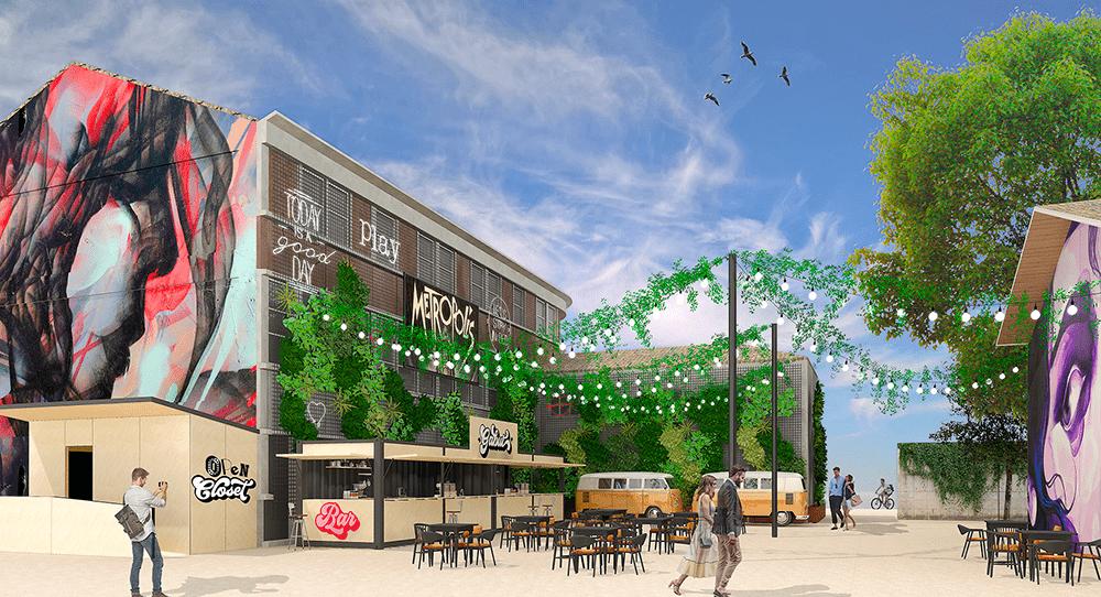 Design d'espace extérieur et concept pour la guinguette de La Rochelle
