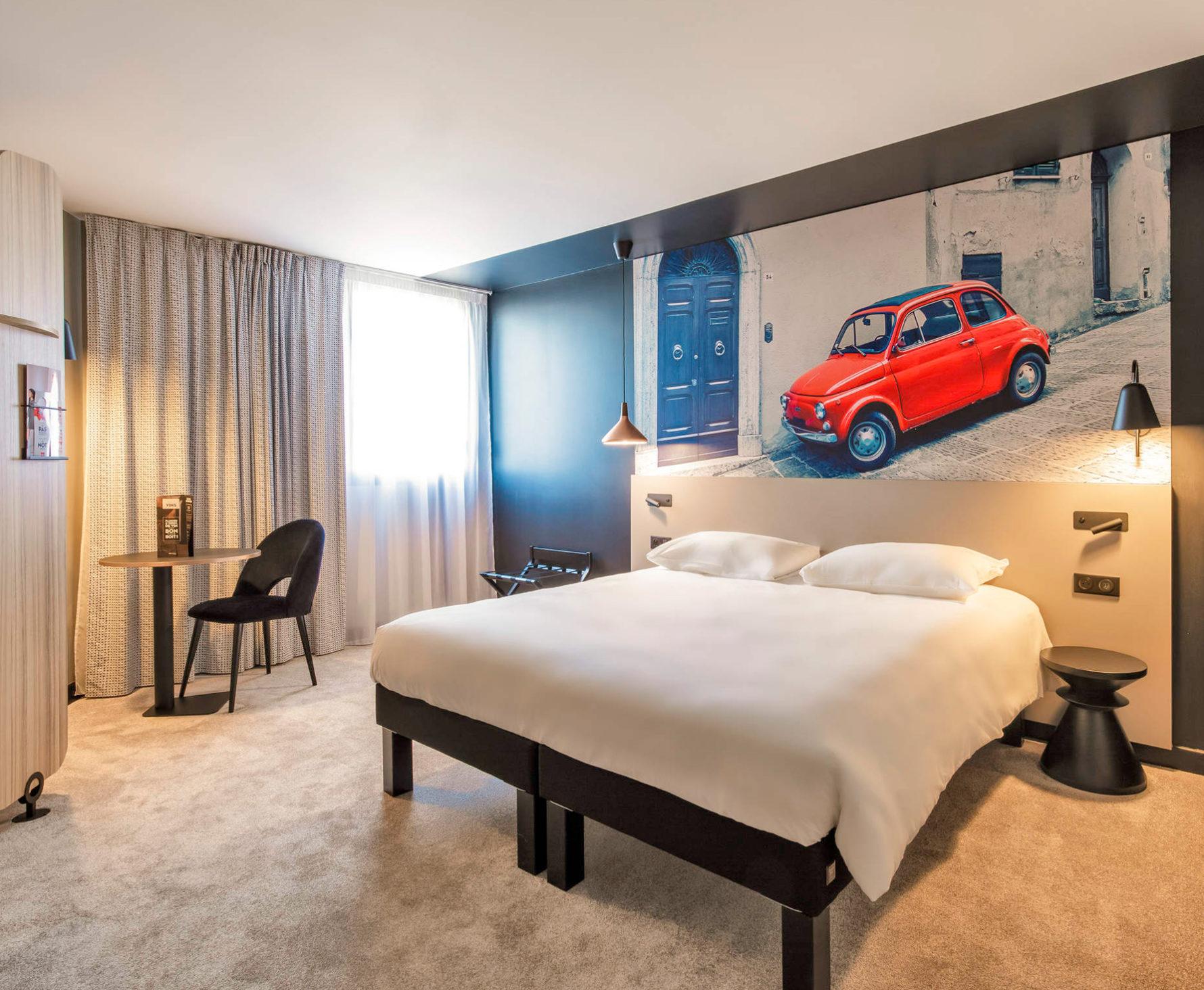 Projet de décoration des chambres de l'hôtel Ibis du mans centre gare nord