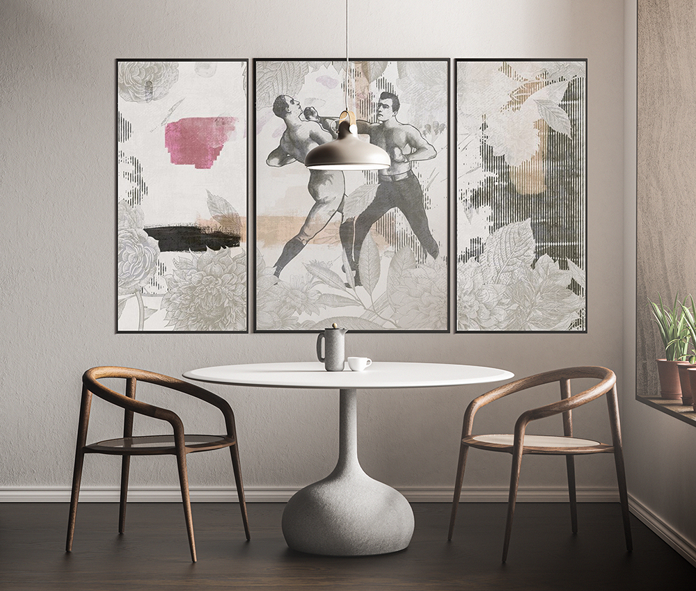 Encadrement de papier peint moderne
