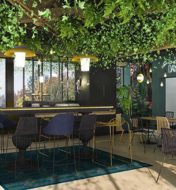 Étape conception du projet d'architecture intérieur pour hôtels et commerces