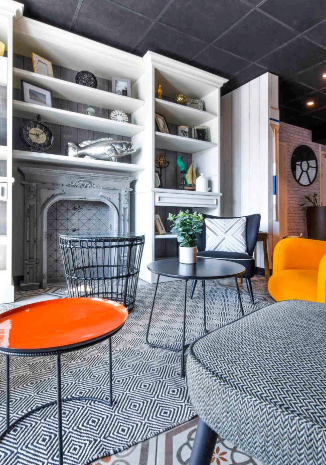 Rénovation et agencement de l'espace lounge de l'hôtel Ibis Styles La Grande Terrasse