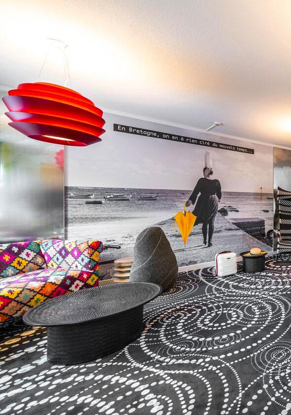 Rénovation et décoration des services généraux de l'hôtel Ibis Styles de Saint Brieuc