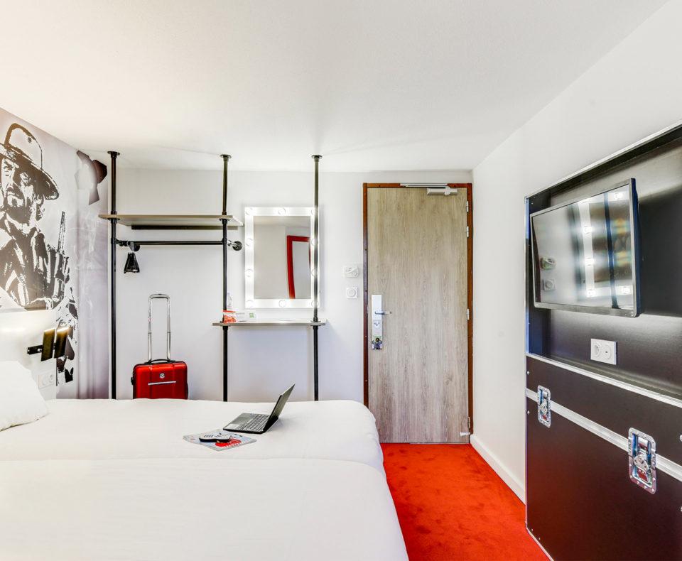 Aménagement et agencement des chambres de l'hôtel Ibis Styles de la Plaine Saint-Denis