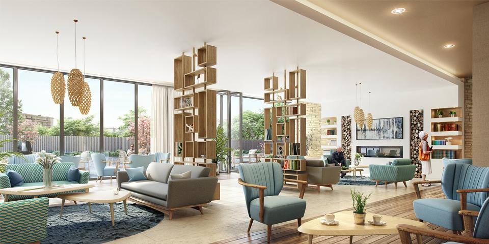 Rénovation et décoration intérieur retail et résidence sénior EHPAD