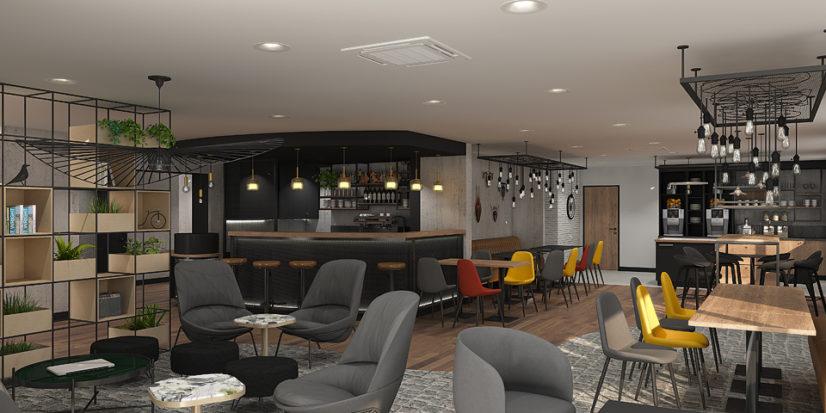 Rénovation et aménagement de l'hôtel Kyriad de Laval