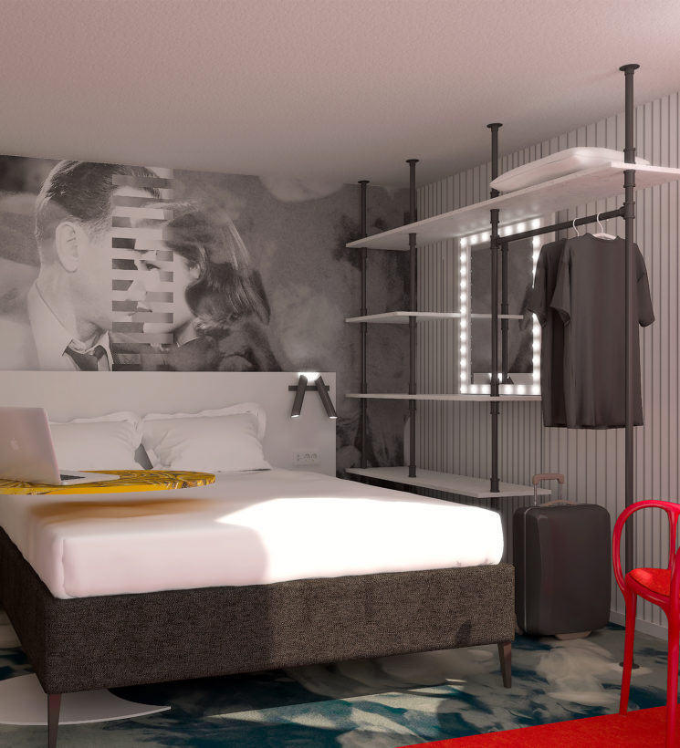 Rénovation et agencement des chambres de l'hôtel Ibis Styles de la Plaine Saint-Denis