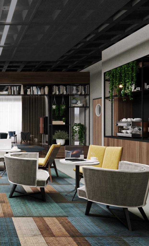 Aménagement des services généraux d'un hôtel Novotel à Paris