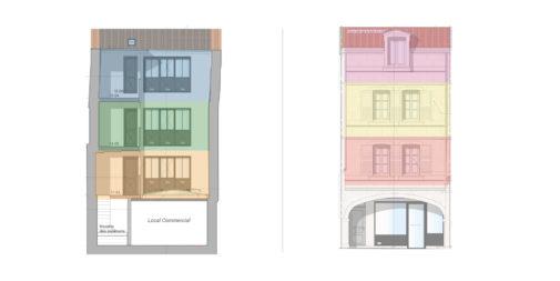 Architecture d'intérieur de 6 appartements rue du minage à La Rochelle