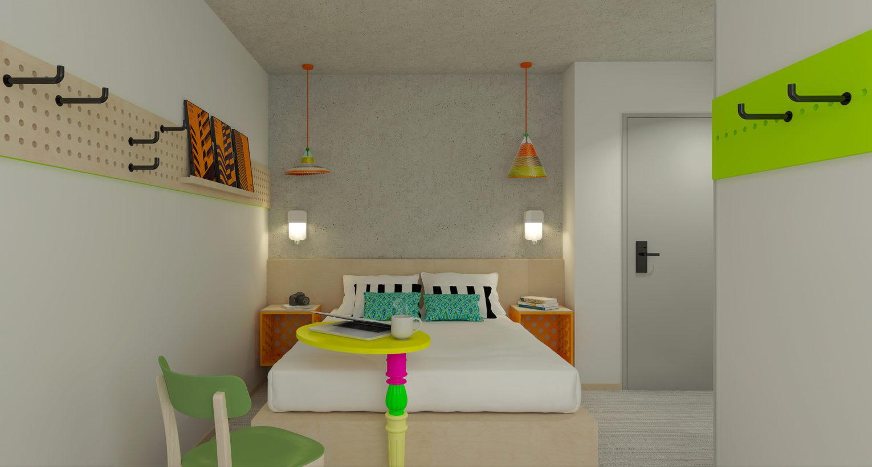 Changement d'enseigne et rénovation d'un hôtel pour création d'un hôtel Greet à Bordeaux Mérignac