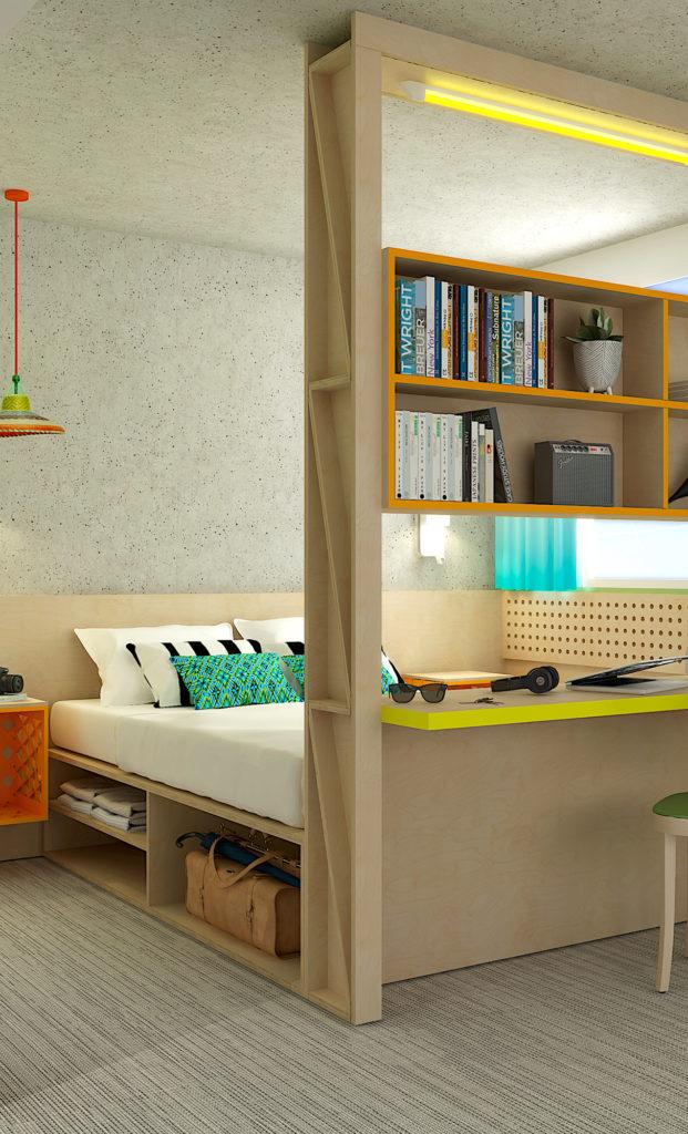 Création du concept design de l'hôtel Greet de Mérignac