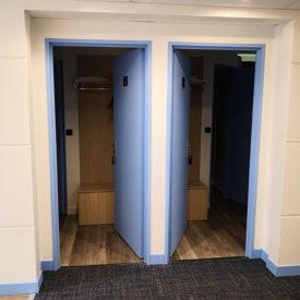 Couloir de l'hôtel avant les travaux de rénovation et de décoration
