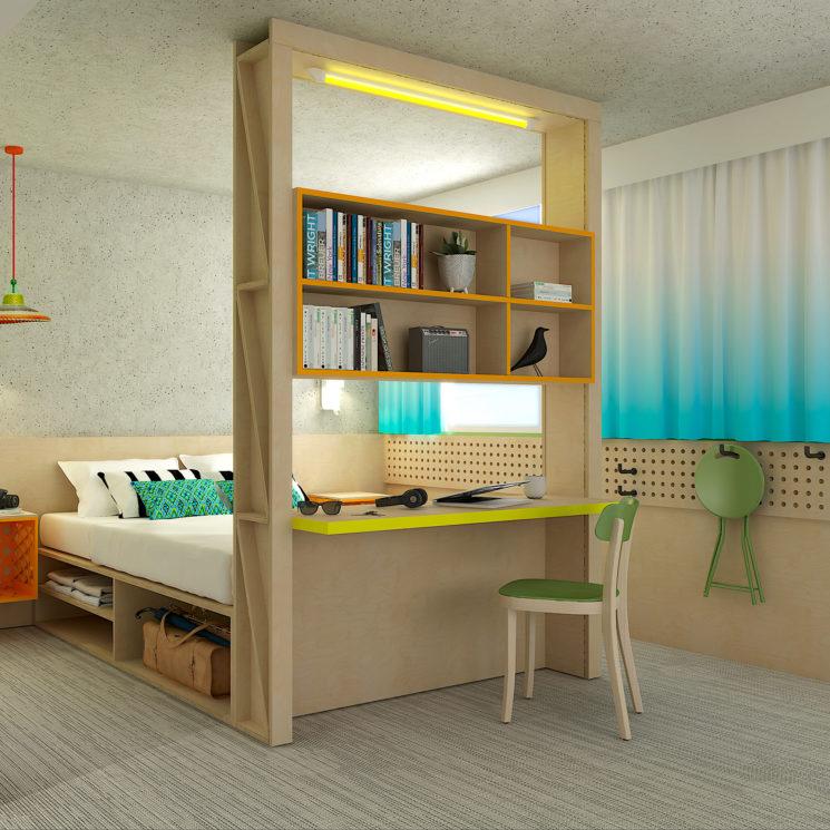 Réalisation du projet de décoration des chambres de l'hôtel Greet Bordeaux Mérignac