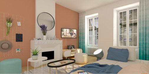 rénovation et décoration d'un immeuble de 10 appartements rue Gambetta à La Rochelle