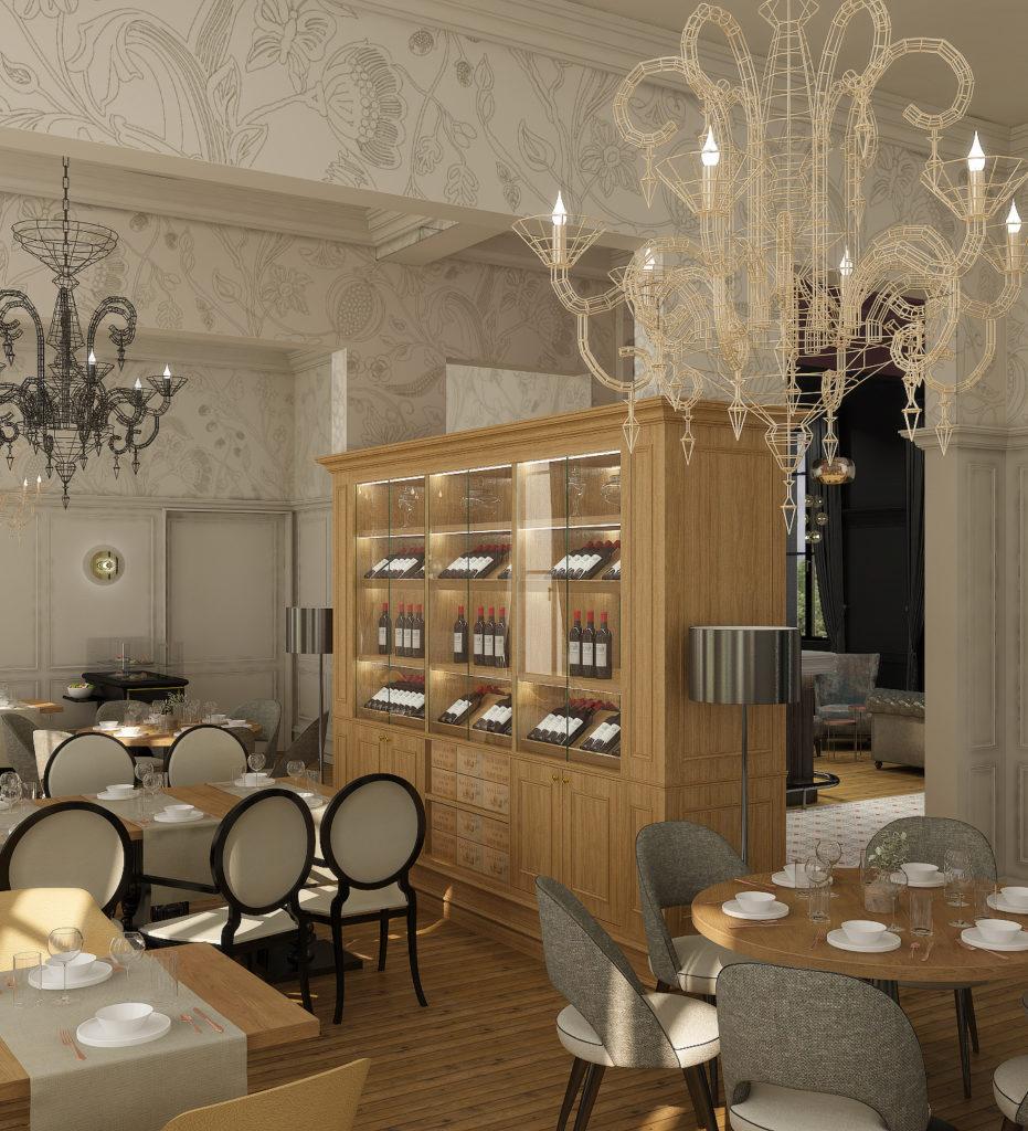 Rénovation et décoration de salle de restaurant