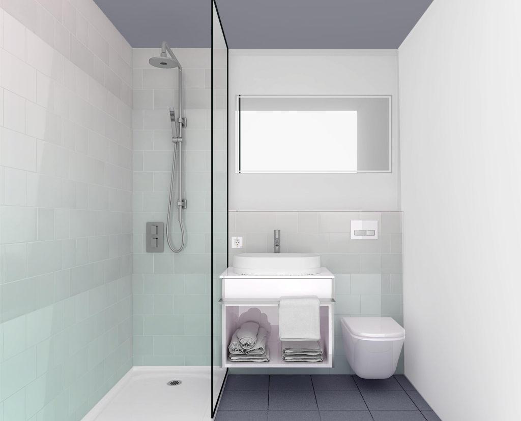 Agencement et décoration de la salle de bain de l'hôtel