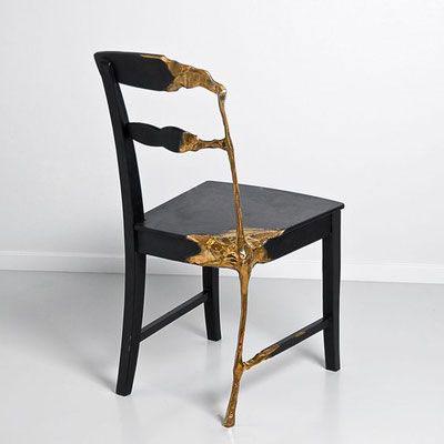 Des chaises inspirées du Kintsugi