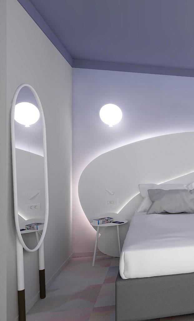 décoration chambre hôtel avec miroir Resistub