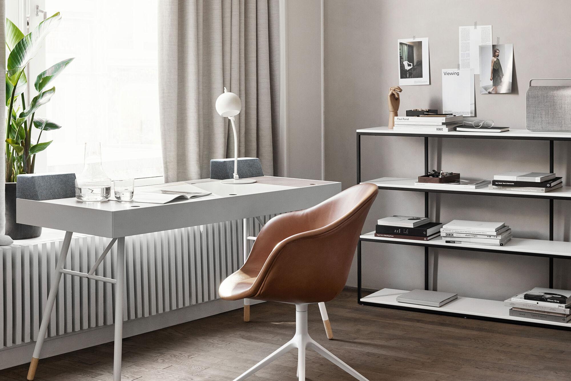 Meuble de décoration intérieur pour un bureau à domicile en télétravail