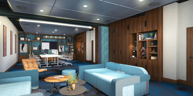 Proposition de décoration et d'agencement de l'espace lounge de l'hôtel Novotel Ibis de Nanterre