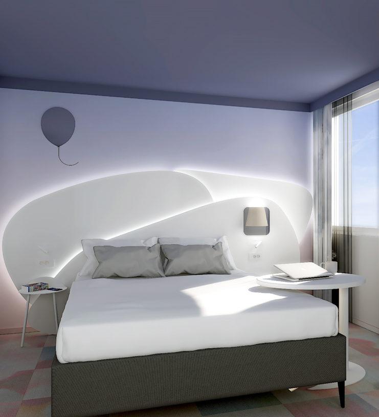 Réalisation d'une chambre inspirée des nuages pour un hôtel Ibis Styles à Eybens