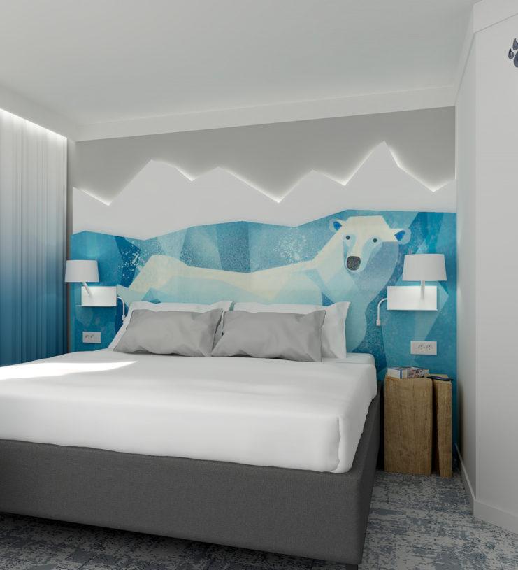 réalisation de la décoration et de l'agencement de l'hôtel Ibis Styles de Carquefou