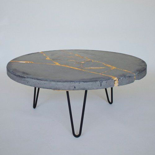 Table en bois Kintsugi