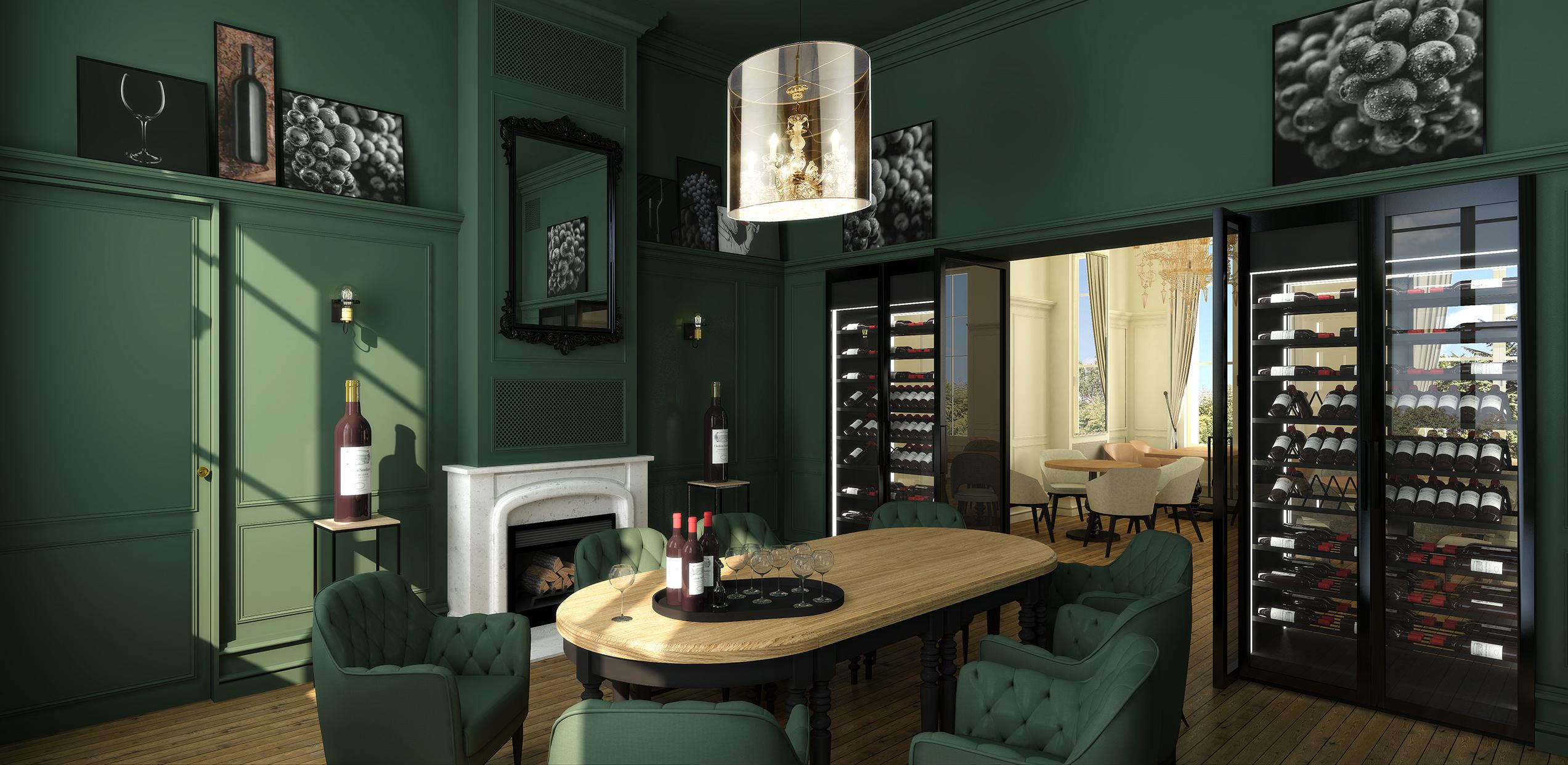 Design d'espace et décoration du restaurant le Petit Faurie du Château Soutard