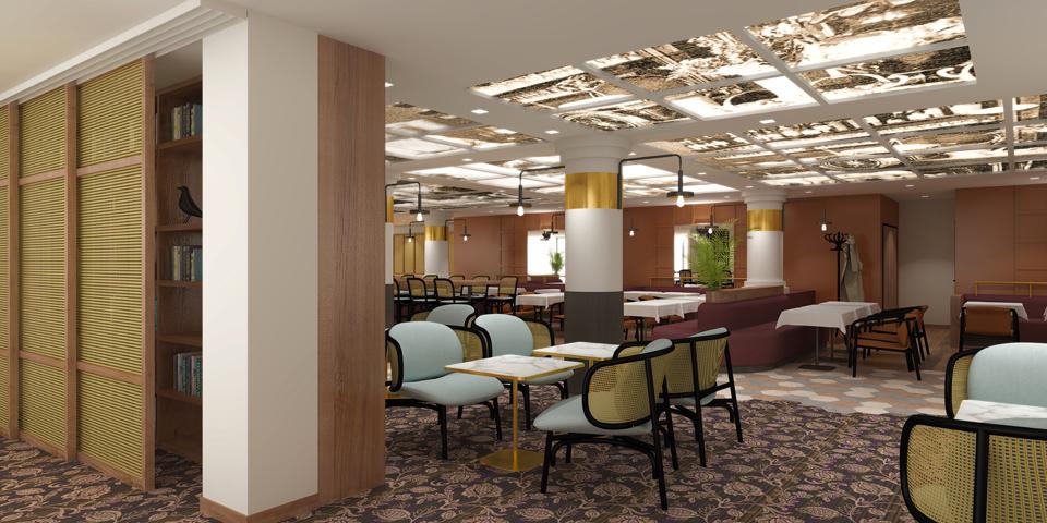 Design d'espace et décoration du restaurant la Belle Époque de Villefontaine