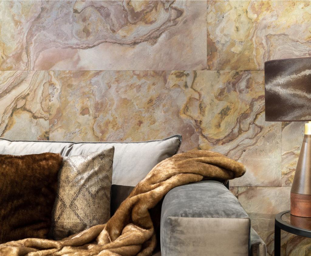 Habillage de mur avec de la feuille de pierre