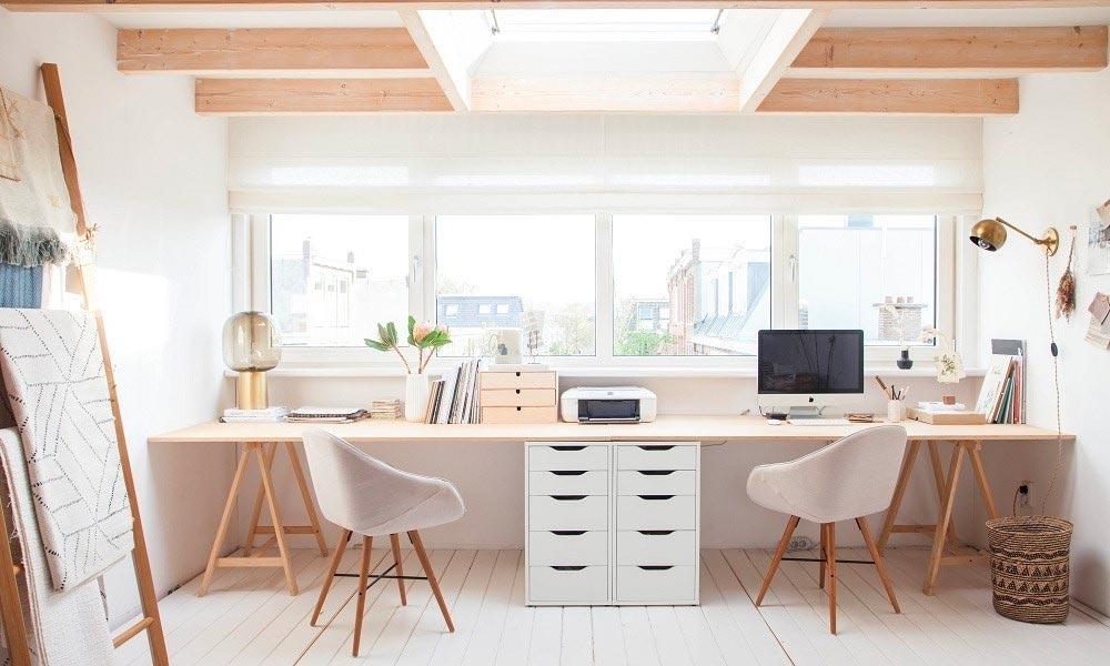 Aménager un bureau en home office pour deux