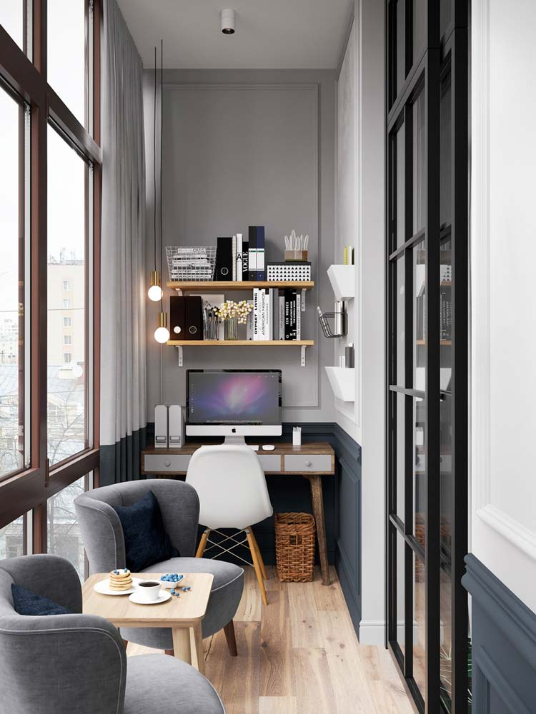 Décoration d'un coin bureau à domicile dans un petit espace