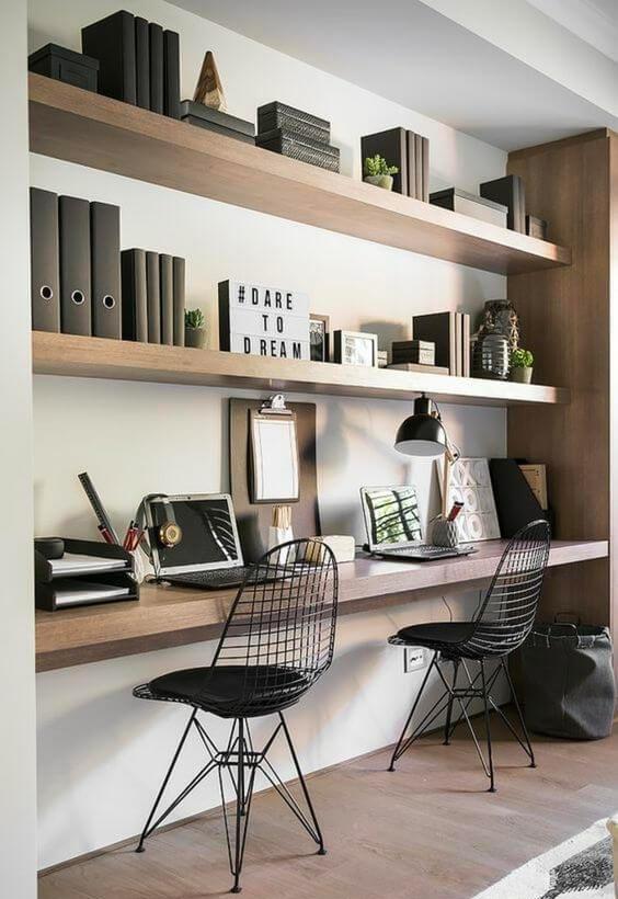 Réaliser un bureau à domicile pour deux personnes