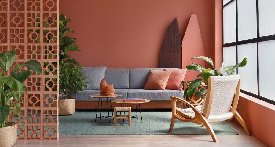 intégrer la couleur terracotta dans son salon