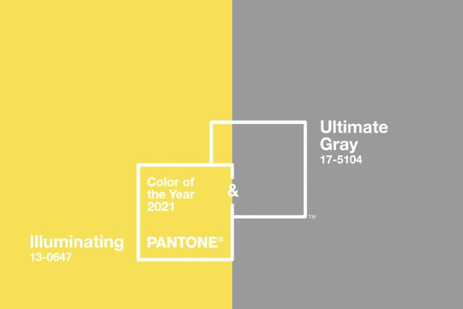 Couleur de l'année 2021, Pantone Ultimate Gray et Illuminating