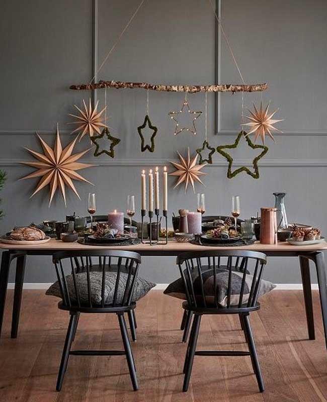 Décoration de table de Noël suspendu scandinave