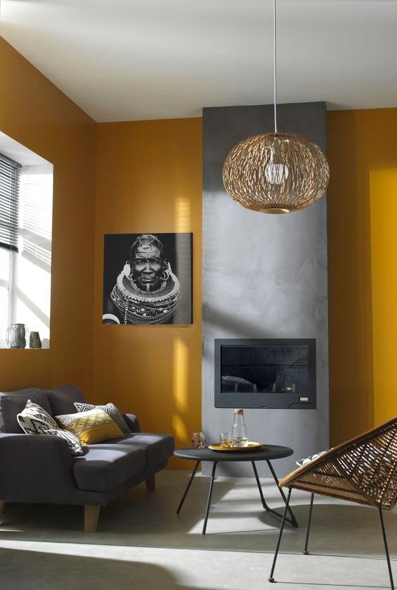 Salon ethnique de couleur Ultimate Gray et illuminating, les couleurs Pantone 2021