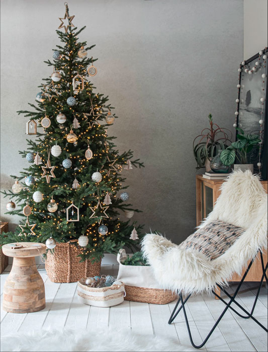 Sapin blanc, bois, nature, rotin, décoration scandicraft, tendance 2020