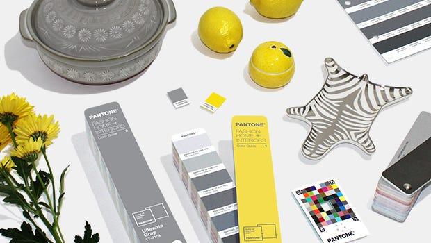 Accessoires de couleur Ultimate Gray et illuminating