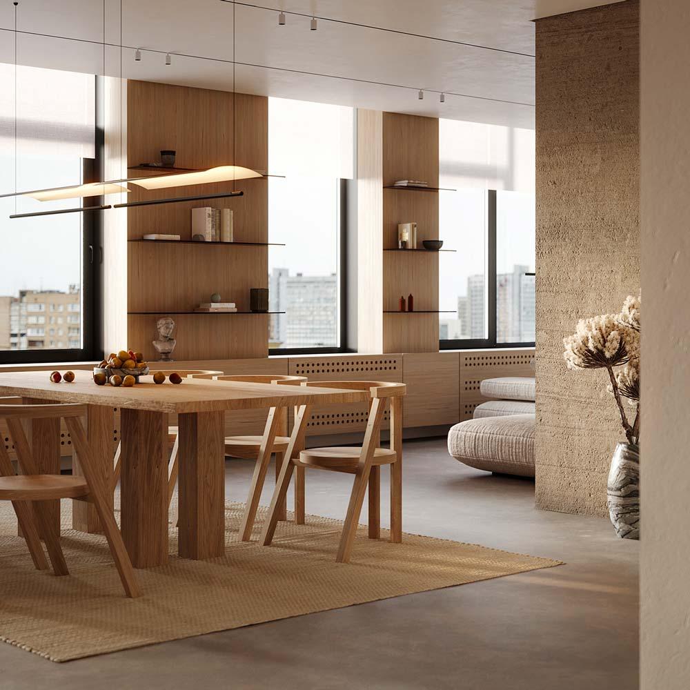 Chaise en bois minimaliste et scandinave au dossier arrondi, la tendance tout en rondeur