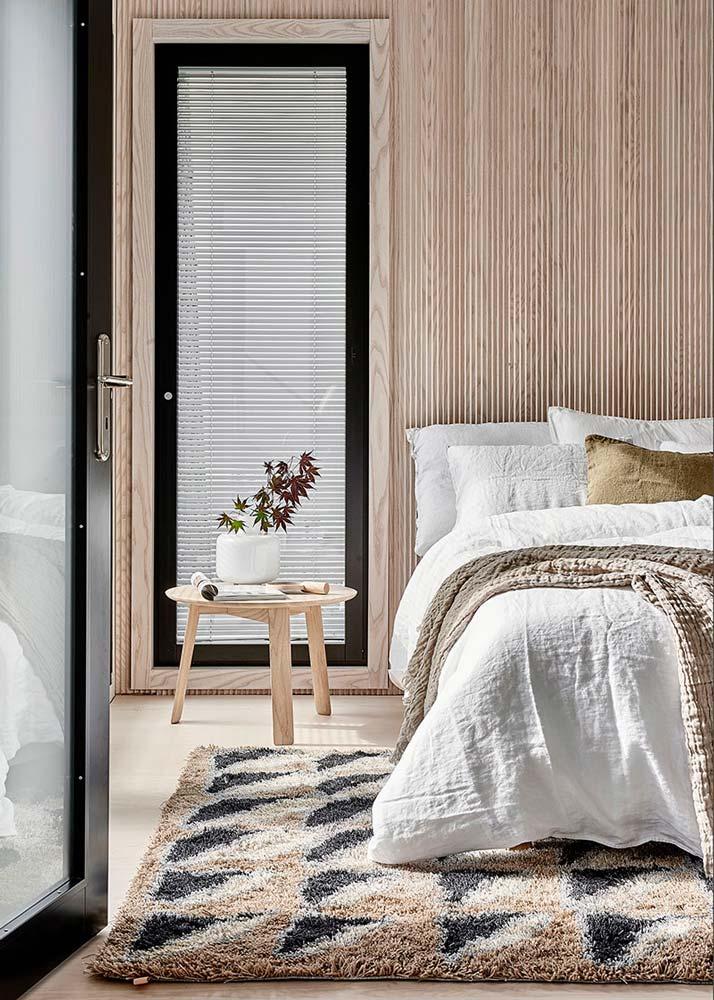 Une chambre Japandi minimaliste et scandinave lumineuse