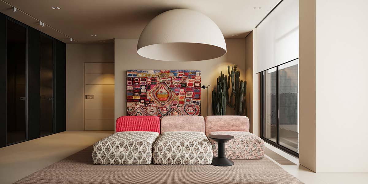 Utiliser les néons pour diffuser une lumière tamisée dans un salon