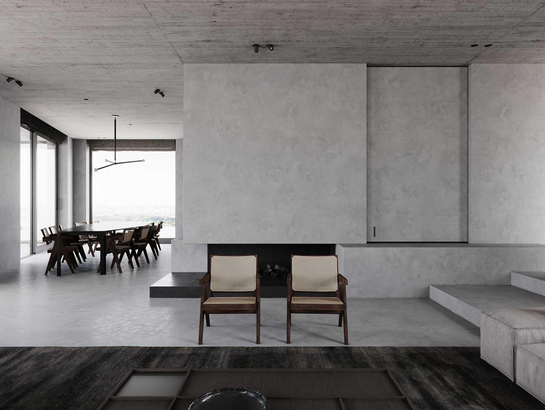 Le minimalisme allège la décoration et ne conserve que l'essentiel avec des assises et une table de salle à manger