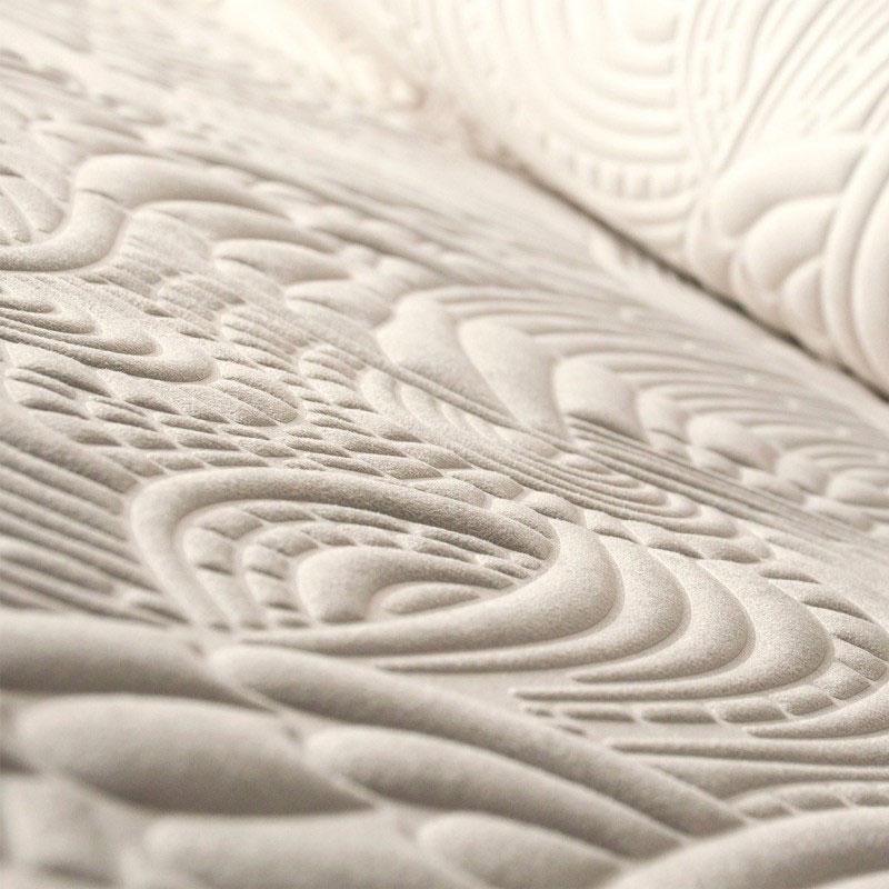Revêtement textile mural décoratif blanc