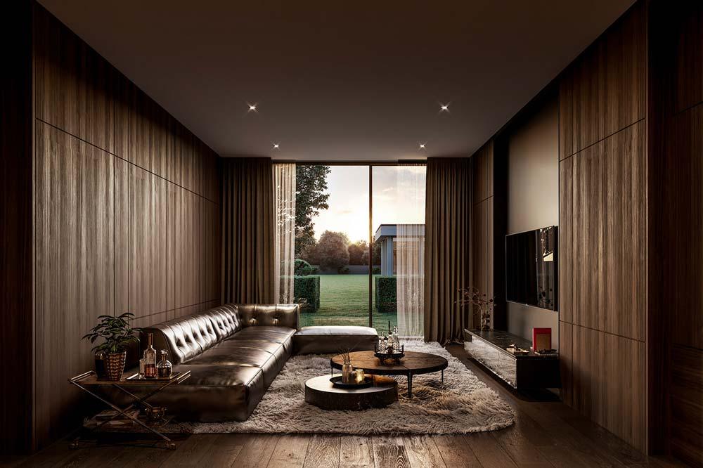 Un salon au style dandy contemporain