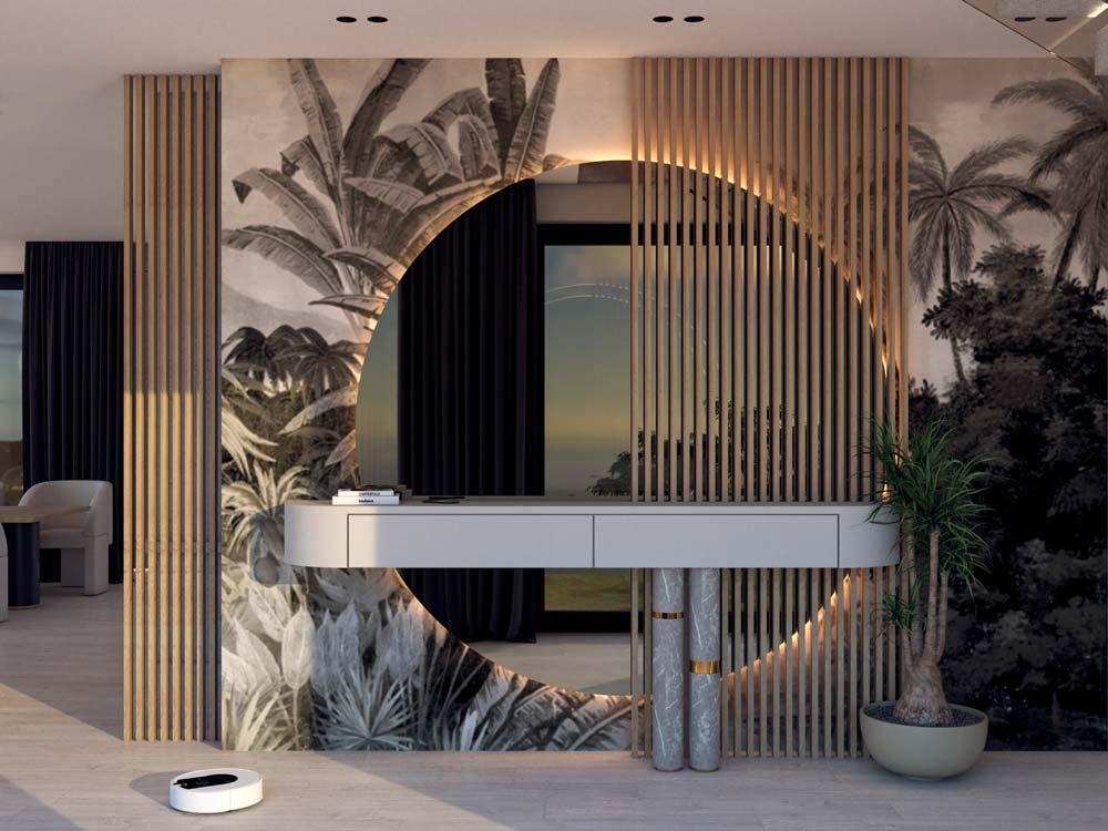 Un papier panoramique jungle pour habiller une entrée